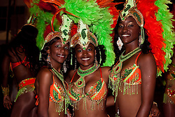 Dana Hendrickson, Roniqua Hart, and Rayshana Blake, Hugga Bunch Carnival Troupe
