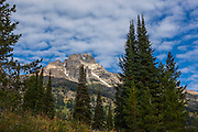 The 3758m high Teewinot Mountain, Grand Teton National Park, Wyoming