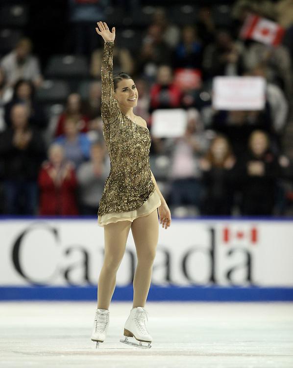 GR2017 --20101029- Kingston, Ontario,Canada -- Cynthia Phaneuf of Canada skates her short program a Skate Canada International in Kingston, Ontario, October 29, 2010.<br /> AFP PHOTO/Geoff Robins