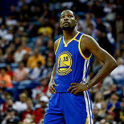 Dec 13, 2016; New Orleans, LA, USA;  Golden State Warriors forward Kevin Durant (35) against the New Orleans Pelicans during the second quarter of a game at the Smoothie King Center. Mandatory Credit: Derick E. Hingle-USA TODAY Sports