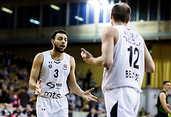 Nigel Williams-Goss of Partizan NIS and Novica Velickovic of Partizan NIS during basketballl match between KK Petrol Olimpija Ljubljana and KK Partizan NIS mts in Round #20 of ABA League 2017/18, on February 10, 2018 in Tivoli sports hall, Ljubljana, Slovenia. Photo by Vid Ponikvar / Sportida