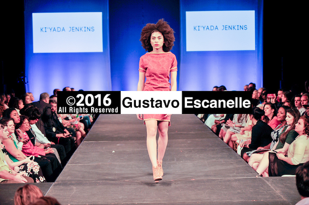 NEW ORLEANS FASHION WEEK 2016: NOFW6, New Orleans Fashion Week with Designer Ki'yada Jenkins showcasing her design at the New Orleans Board of Trade on Thursday March 17, 2016. &copy;2016, Gustavo Escanelle, All Rights Reserved. &copy;2016, MOI MAGAZINE, All Rights Reserved.<br /> <br /> #nofw6