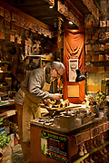 Orvieto, Italy terrecotte artist Alberto Bellini in his studio shop