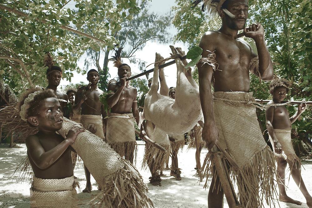 Tribal 'Kastom' dance, Efate Island, Vanuatu.