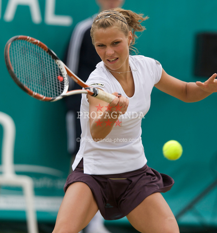 LIVERPOOL, ENGLAND - Friday, June 13, 2008: Katarzyna Piter (POL) on Day Four of the Tradition-ICAP Liverpool International Tennis Tournament at Calderstones Park. (Photo by David Rawcliffe/Propaganda)