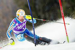 MYHRER Andreof Sweden competes during 1st Run of Men's Slalom - Pokal Vitranc 2012 of FIS Alpine Ski World Cup 2011/2012, on March 11, 2012 in Vitranc, Kranjska Gora, Slovenia.  (Photo By Vid Ponikvar / Sportida.com)