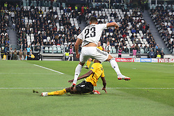 October 2, 2018 - Turin, Piedmont, Italy - Emre Can (Juventus FC) and M. Camara (Berner Sport Club Young Boys) compete for the ball during the Juventus FC UEFA Champions League match between Juventus FC and Berner Sport Club Young Boys at Allianz Stadium on October 02, 2018 in Turin, Italy..Juventus won 3-0 over Young Boys. (Credit Image: © Massimiliano Ferraro/NurPhoto/ZUMA Press)