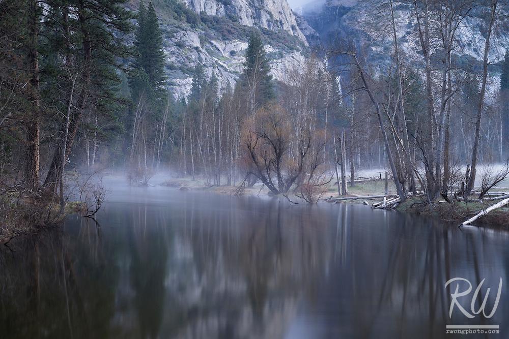 Morning Fog on Merced River, Yosemite National Park, California