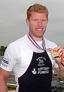 Poznan, POLAND.  2006, FISA, Rowing World Cup, Men's Double Sculls Final. GBR M2X,  Matt WELLS, 'Malta Regatta course;  Poznan POLAND, Sat. 17.06.2006. © Peter Spurrier   ....[Mandatory Credit Peter Spurrier/ Intersport Images] Rowing Course:Malta Rowing Course, Poznan, POLAND