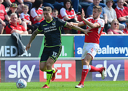 James Clarke of Bristol Rovers battles for the ball with Will Vaulks of Rotherham United - Mandatory by-line: Alex James/JMP - 21/04/2018 - FOOTBALL - Aesseal New York Stadium - Rotherham, England - Rotherham United v Bristol Rovers - Sky Bet League One