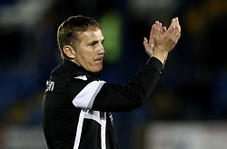 Bolton Wanderers manager Phil Parkinson applauds the fans after the 2-0 win over local rivals Bury - Mandatory by-line: Robbie Stephenson/JMP - 24/10/2016 - FOOTBALL - Gigg Lane - Bury, England - Bury v Bolton Wanderers - Sky Bet League One