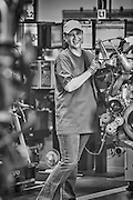Volvo assembly line worker