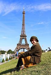 THEMENBILD, Paris, Frankreich, Der Eiffelturm steht in Paris und ist 324 Meter hoch. Er wurde von 1887 bis 1889 gebaut und war urspruenglich als Eingangsportal und Aussichtsturm für die Weltausstellung zur Erinnerung an den 100. Jahrestag der Franzoesischen Revolution errichtet worden. Der nach dem Erbauer Gustave Eiffel benannte Turm war von seiner Fertigstellung bis 1930 das hoechste Bauwerk der Welt. im Bild der Eiffelturm mit einer Frau im Vordergrund. //THEME IMAGE, FEATURE, Paris, France, The Eiffel Tower is located in Paris and is 324 metres high. He was built from 1887 until 1889 and was originally the portal and viewing tower for the world exhibition on the occasion of the centenary of the French Revolution. The tower is named after his constructor Gustave Eiffel and was after his completion until 1930 the highest building in the world. picture shows the Eiffel Towerwith a woman in the foreground, France on 2012/07/31. EXPA Pictures © 2012, PhotoCredit: EXPA/ Sebastian Pucher
