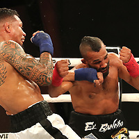 FORT LAUDERDALE, FL - FEBRUARY 15: Luis Palomino (L) fights Elvin Brito during the Bare Knuckle Fighting Championships at Greater Fort Lauderdale Convention Center on February 15, 2020 in Fort Lauderdale, Florida. (Photo by Alex Menendez/Getty Images) *** Local Caption *** Luis Palomino; Elvin Brito
