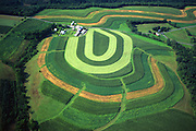 PA landscapes, Aerial Photograph, Northumberland Co., Pennsylvania, Contour farm