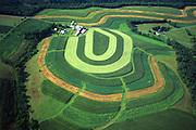 PA landscapes, Aerial Photograph, Northumberland Co., Pennsylvania, Contour farm