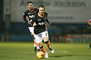 Exeter City midfielder Ryan Harley  during the Sky Bet League 2 match between York City and Exeter City at Bootham Crescent, York, England on 16 February 2016. Photo by Simon Davies.