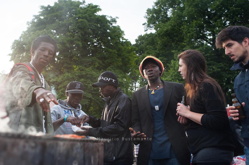 Flüchtlinge aus Libyen , (Park Fiction) Lampedusa in Hamburg
