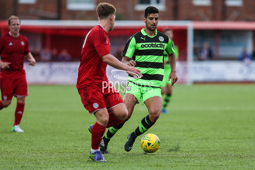 Forest Green Rovers Omar Bugiel(11) runs forward during the Pre-Season Friendly match between Worthing FC and Forest Green Rovers at Woodside Road, Worthing, Uni on 1 August 2017. Photo by Shane Healey.