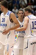 4.8.2014, Jäähalli, Helsinki, Finland.<br /> Koripallomaaottelu Suomi - Liettua / Basketball Friendly International match, Finland v Lithuania.<br /> Roope Ahonen & Teemu Rannikko - Finland