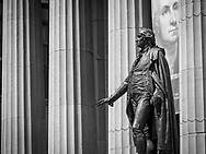 I wonder what George Washington is thinking about the current state of his country; Federal Hall, Wallstreet, New York