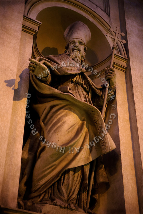 A statue is photographed outside The Church of San Claudio, in Rome, Italy, where Father Igino Troiani, 77, normally carries out exorcisms. He has been an exorcist for around five years.<br /> <br /> FOR MORE INFORMATION PLEASE WRITE TO ALEX@ALEXMASI.CO.UK<br /> <br /> **TEXT AND LENGHTY INTERVIEWS AVAILABLE**