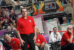 09.09.2014, City Arena, Barcelona, ESP, FIBA WM, Slowenien vs USA, im Bild USA's coach Mike Krzyzewski // during FIBA Basketball World Cup Spain 2014 match between Slovenia and USA at the City Arena in Barcelona, Spain on 2014/09/09. EXPA Pictures © 2014, PhotoCredit: EXPA/ Alterphotos/ Acero<br /> <br /> *****ATTENTION - OUT of ESP, SUI*****