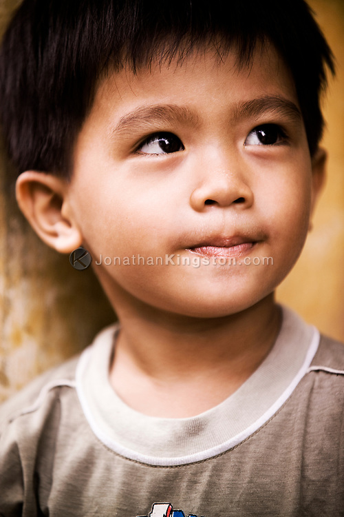 Portrait of a young male child, Ho Chi Minh city, Vietnam.