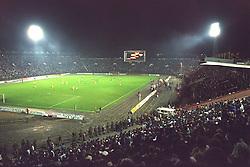 VLADIKAVKAZ, RUSSIA - Tuesday, September 12, 1995: Liverpool's take on FC Alania Spartak Vladikavkaz during the UEFA Cup 1st Round 1st Leg match at Republican Spartak Stadium. (Photo by David Rawcliffe/Propaganda)
