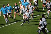 Stephen Donald passing, All Blacks training session, Eden Park, Auckland. 14 July 2009. Photo: Andrew Cornaga/PHOTOSPORT