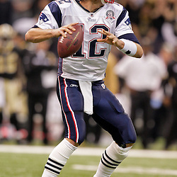 2009 November 30: New England Patriots quarterback Tom Brady (12) looks to throw during a 38-17 win by the New Orleans Saints over the New England Patriots at the Louisiana Superdome in New Orleans, Louisiana.