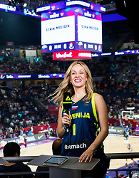 Sanja Modric of POP TV during the Final basketball match between National Teams  Slovenia and Serbia at Day 18 of the FIBA EuroBasket 2017 at Sinan Erdem Dome in Istanbul, Turkey on September 17, 2017. Photo by Vid Ponikvar / Sportida