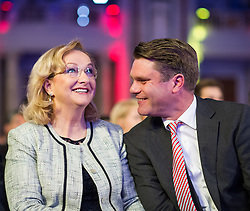 15.05.2013, Hofburg, Wien, AUT, OeVP, Oesterreich-Rede von OeVP Bundesparteiobmann. im Bild v.l.n.r. Bundesministerin fuer Finanzen Dr. Maria Fekter OeVP und Generalsekretaer OeVP Mag. Johannes Rauch // f.l.t.r. Minister of finance Maria Fekter OeVP and Secretary General OeVP Hannes Rauch during speech of OeVP Chairman, Hofburg, Vienna, Austria on 2013/05/15, EXPA Pictures © 2013, PhotoCredit: EXPA/ Michael Gruber