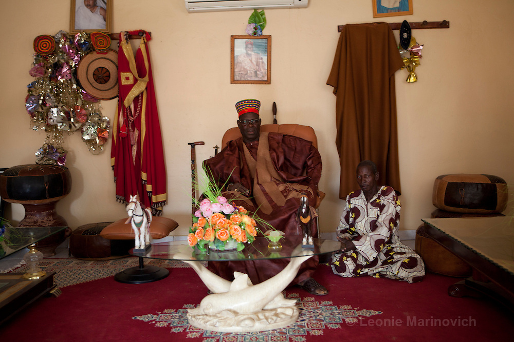 22 June 2010. Chief of Saolog, Burkina Faso. Omar Naba Boulga Salogo, in his reception hall.