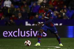 January 10, 2019 - Valencia, Spain - Levante's forward MOSES DADDY-AJALA   during  spanish King Cup  match between Levante UD v FC Barcelona  at Ciutat de Valencia  Stadium on January  10, 2018. (Photo by Jose Miguel Fernandez/NurPhoto) (Credit Image: © Jose Miguel Fernandez/NurPhoto via ZUMA Press)