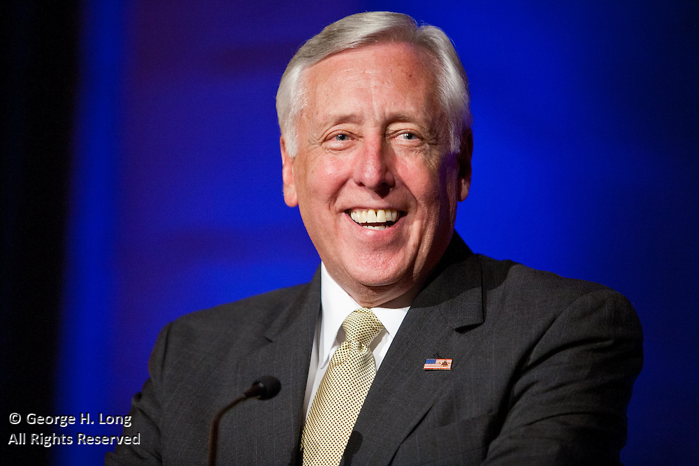 House Majority Leader U.S. Rep. Steny Hoyer speaks at An Evening Honoring Democratic Leadership Council Founder Al From at Andrew W. Mellon Auditorium in Washington D.C. on June 16, 2009