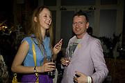 MORWENNA LYTTON-COBBOLD ; KAISER SAUCY; , Visa Swap launch party. No1 The Piazza. Covent Garden. London. 16 July 2008.  *** Local Caption *** -DO NOT ARCHIVE-© Copyright Photograph by Dafydd Jones. 248 Clapham Rd. London SW9 0PZ. Tel 0207 820 0771. www.dafjones.com.