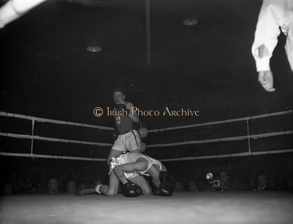 Ireland vs. England - Boxing Stadium for Belfast Telegraph.04/12/1959
