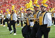 September 12, 2009: The Iowa marching band plays before the start of the Iowa Hawkeyes' 35-3 win over the Iowa State Cyclons at Jack Trice Stadium in Ames, Iowa on September 12, 2009.