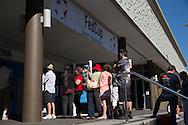 Stadium Entry Gates, April 19, 2014 - TENNIS : Fed Cup, Semi-Final, Australia v Germany. Pat Rafter Arena, Brisbane, Queensland, Australia. Credit: Lucas Wroe