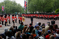 UK ENGLAND LONDON 29APR11 -  The Royal Guards parade on the Mall ahead of the Royal Wedding in London, England. Prince William and Kate Middleton married today at the Westminster Abbey, an event watched on TV by an estimated two billion people.....jre/Photo by Jiri Rezac....© Jiri Rezac 2011