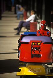 Shopping mall childrens amusement ride, Spiderman character.