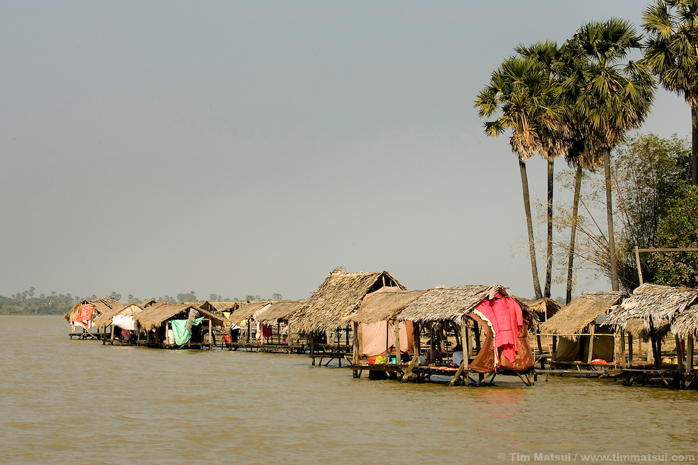 On the water of the lake Tonle Bati, near Phnom Penh, Cambodia.