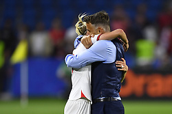 June 27, 2019 - Le Havre, France - Steph Houghton (Manchester City WFC) and Phillip Neville coach of England celebrate victory after the 2019 FIFA Women's World Cup France Quarter Final match between Norway and England at  on June 27, 2019 in Le Havre, France. (Credit Image: © Jose Breton/NurPhoto via ZUMA Press)