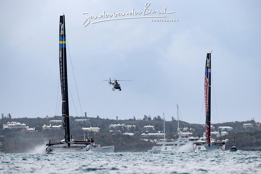 Louis Vuitton America's Cup Finals. Artemis Racing vs Emirates Team New Zealand. 1-2. 10th of June, 2017, Bermuda