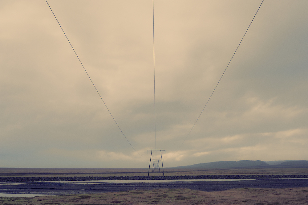 Electricity pylons, south Iceland