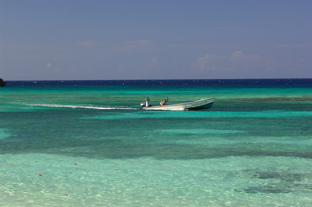 Boat at Winnifred Beach, North Coast, Jamaica, Caribbean