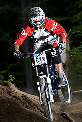 Sebastjan Zmrzljak (SLO) of Masters 30-34 category at MTB Downhill European Championships, on June 13, 2009, at Kranjska Gora, Slovenia. (Photo by Vid Ponikvar / Sportida)