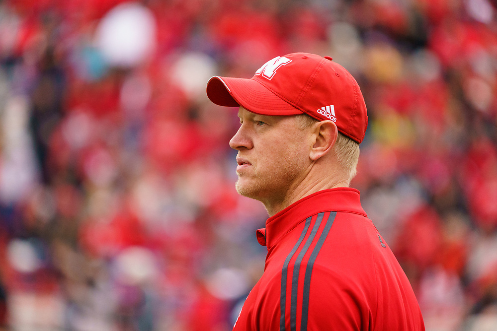 Scott Frost during Nebraska's annual Spring Game at Memorial Stadium in Lincoln, Neb., on April 21, 2018. © Aaron Babcock