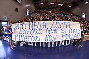 DESCRIZIONE : Campionato 2014/15 Dinamo Banco di Sardegna Sassari - Openjobmetis Varese<br /> GIOCATORE : Commando Ultra' Dinamo<br /> CATEGORIA : Ultras Tifosi Spettatori Pubblico Coreografia Striscione<br /> SQUADRA : Dinamo Banco di Sardegna Sassari<br /> EVENTO : LegaBasket Serie A Beko 2014/2015<br /> GARA : Dinamo Banco di Sardegna Sassari - Openjobmetis Varese<br /> DATA : 19/04/2015<br /> SPORT : Pallacanestro <br /> AUTORE : Agenzia Ciamillo-Castoria/L.Canu<br /> Predefinita :